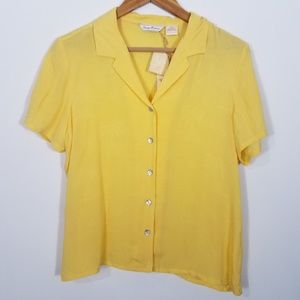 Tommy Bahama Monaco Palms Lite Camp Shirt Yellow